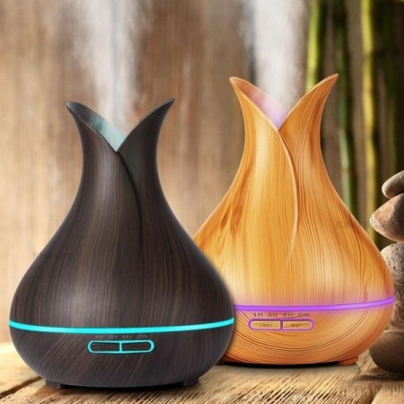 Aroma diffuser med LED lys - Tulip 400 ml