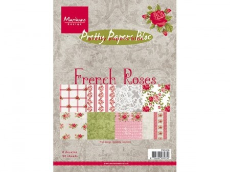Marianne Design – Papirpakke A5 – French roses