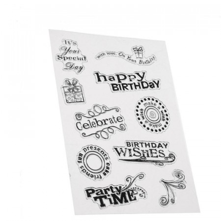 Stempel - Clear stamp - Happy Birthday
