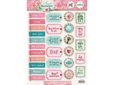 Studiolight Labels utstanset – Sweet Romance 520