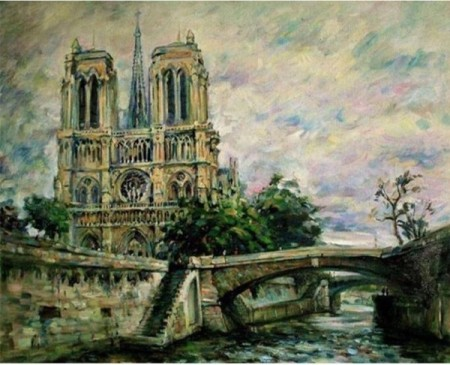 Paint By Numbers - Grey Notre Dame 40x50cm