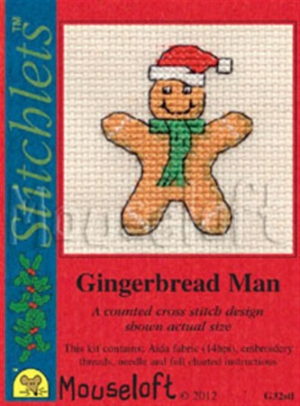 Mini korssting - Gingerbread Man