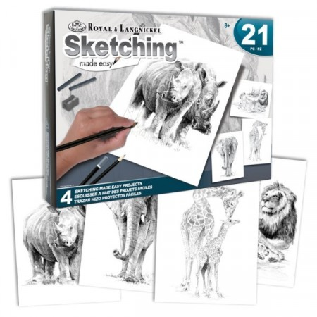 Sketching sett 4 projekter - Zoo Animal