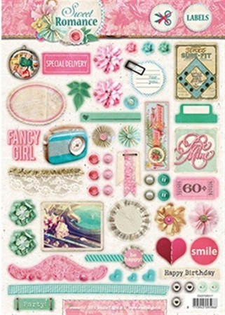 Studiolight Labels utstanset – Sweet Romance 517