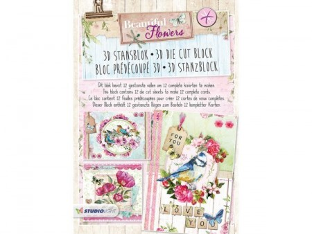 Studiolight 3D Die Cut Block – Beautiful Flowers