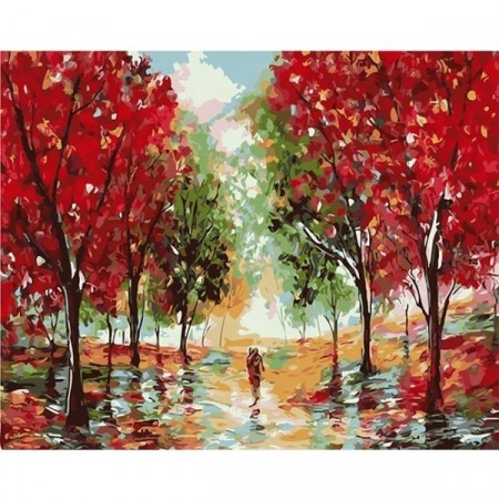 Paint by numbers - Red autumn 40x50cm
