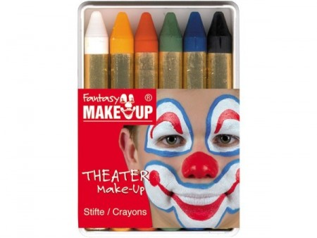 Fantasy make-up sett - 6 stifter