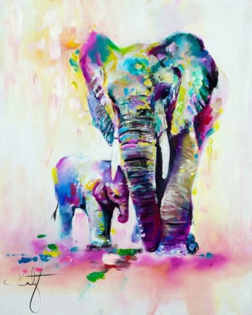 Paint by numbers - Elephants 40x50cm