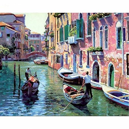Paint by numbers - Gondolas in Venice 40x50cm