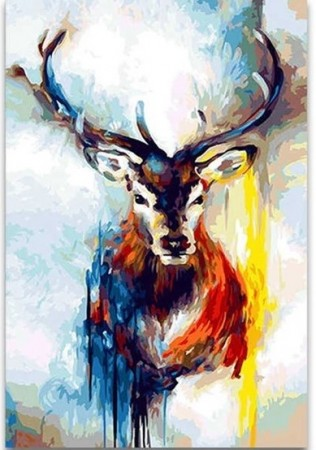 Paint by numbers - Colorful Deer 40x50cm