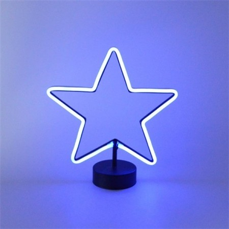 LED lys - Blue Star bordlampe