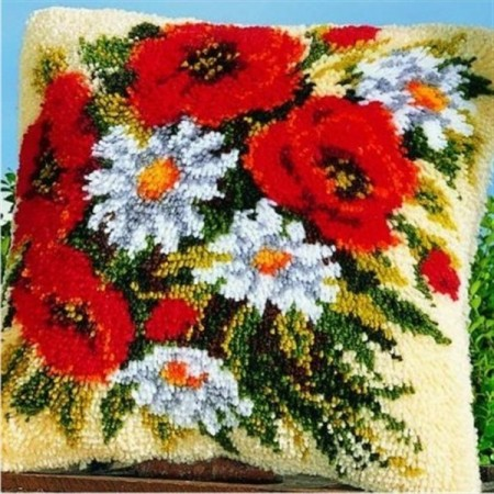 Ryepute - Blomster 43x43cm
