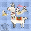 Mini korssting - Decorated Llama