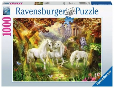 Ravensburger puslespill -  Unicorns in the Forest 1000