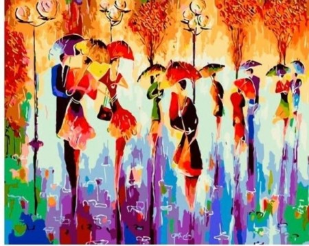 Paint By Numbers - Umbrella dance 40x50cm