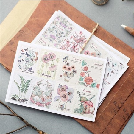 24 stk Stamp Sticker - Scrapbooking
