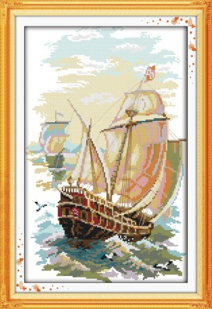 Korssting pakke -  The sails 29x43cm