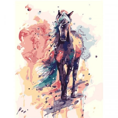 Paint by numbers - Colorful horse 40x50cm