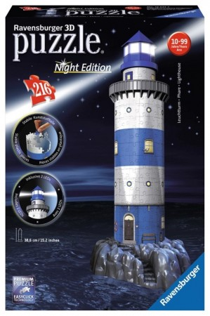 Ravensburger 3D puslespill - Lighthouse m/lys
