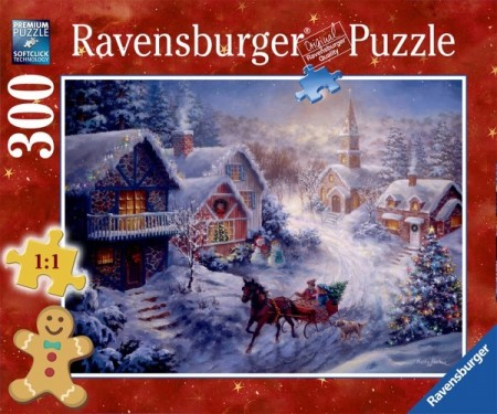 Ravensburger puslespill - Through the snow 300