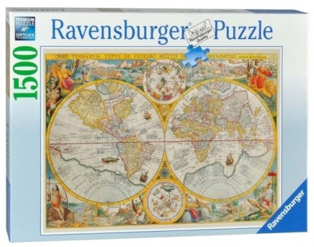 Ravensburger puslespill - World Map 1594 1500