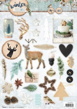 Studiolight 3D-ark utstanset – Winter Feelings 599
