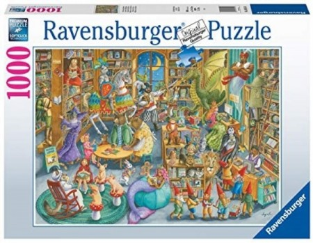 Ravensburger puslespill -  Midtnight at the Library 1000