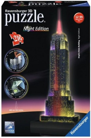 3D puslespill - Empire state building - Night edition