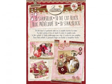 Studiolight 3D Die Cut Block A4 - Baroque Christmas