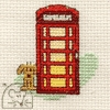 Mini korssting - Red telephone Box