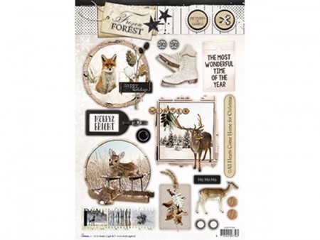 Studiolight Labels utstanset – Frozen Forest 534