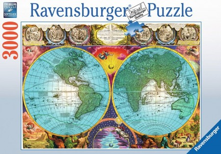 Ravensburger puslespill -  Antique map 3000