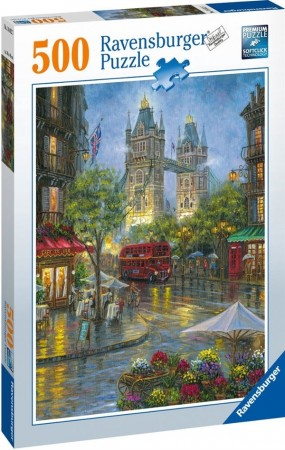 Ravensburger puslespill - London illustrert 500