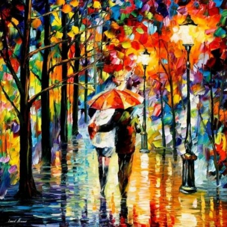 Paint by numbers - Walking in the rain 40x50cm