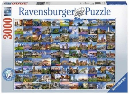 Ravensburger puslespill - 99 beautiful places Europe 3000