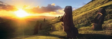Puslespill Panorama - Easter Island 1000