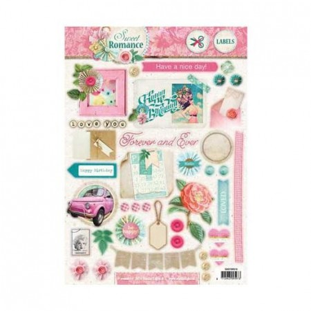 Studiolight Labels utstanset – Sweet Romance 518