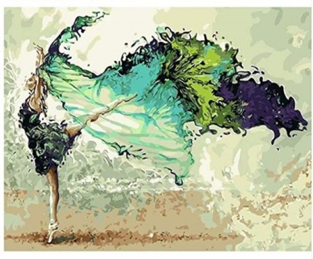 Paint By Numbers - Green Ballerina 40x50cm (pt)