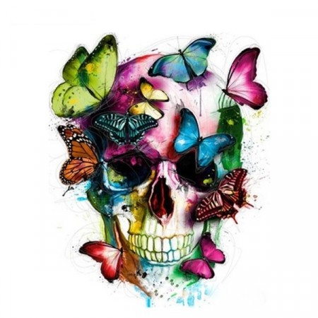 Paint by numbers - Skull with Butterflies 40x50cm