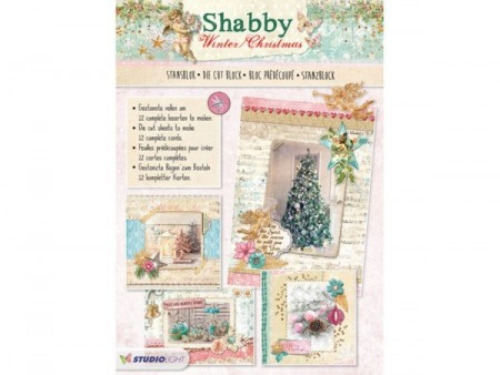 Studiolight stansblok A4 – Shabby Winther/Christmas
