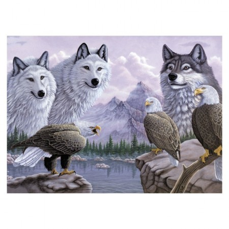 Paint By Numbers - Wolfes & Eagles