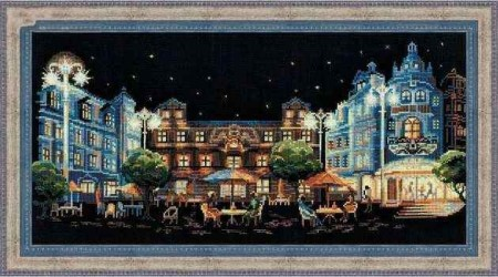 Korssting pakke - Night Cafe 46x24cm