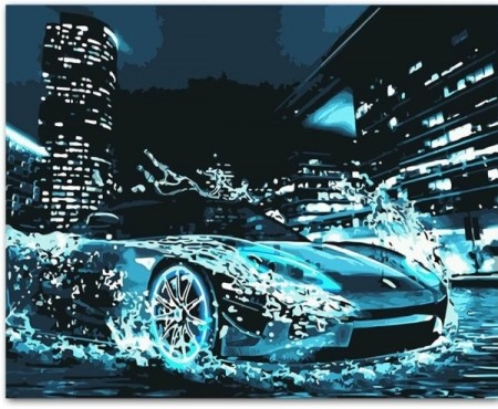 Paint By Numbers - Sports Car 40x50cm