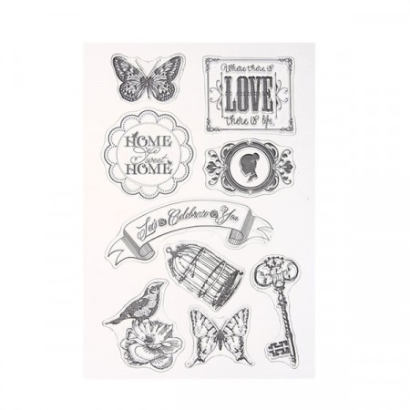 Stempel - Clear stamp - Home & Love