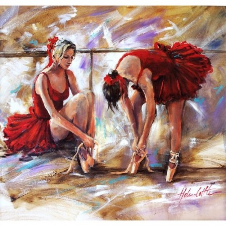Paint by numbers - Red ballerinas 40x50cm