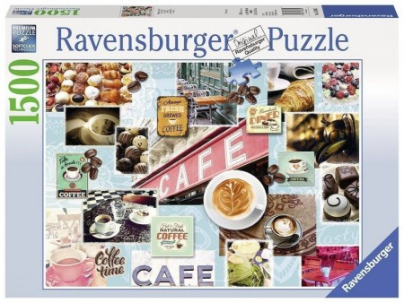 Ravensburger puslespill -  Coffeecollage 1500