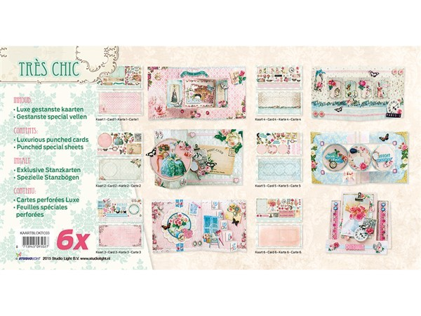 luxurious card x 6 - tres chic