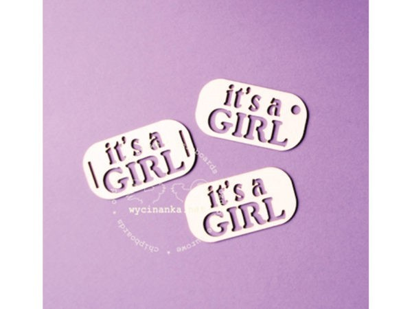 Dekor cutouts - Chipboards - It`s a girl
