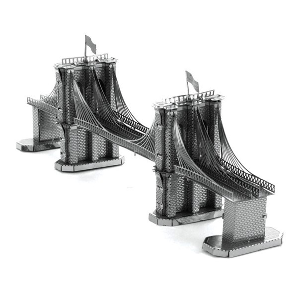 3D metall puslespill - Brooklyn Bridge