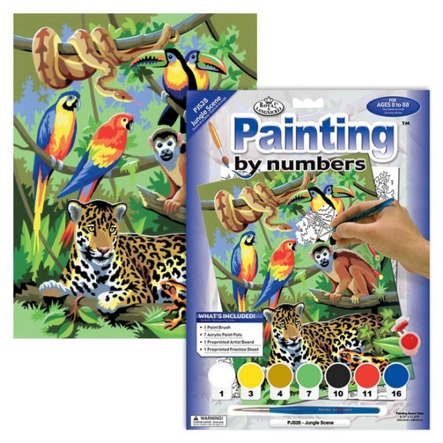 Paint by numbers - Jungle scene barn